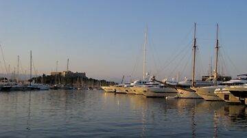 Antibes Marina Early Evening Sunset by Brian Robertson