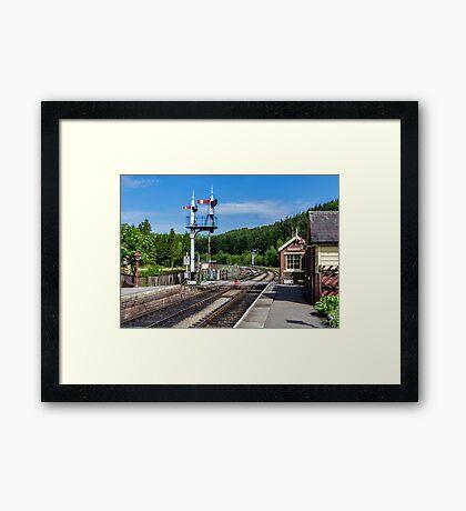 Levisham Station Framed Print