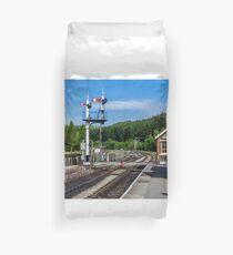 Levisham Station Duvet Cover