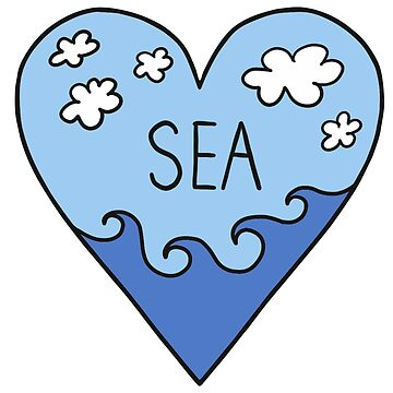 ¡Amo el mar! mar, surf, verano, vacaciones de boom-art