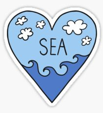 I love the sea! ocean, surfing, summer, holidays Sticker