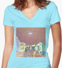 VR people Women's Fitted V-Neck T-Shirt
