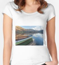 Sailing on Ullswater Women's Fitted Scoop T-Shirt