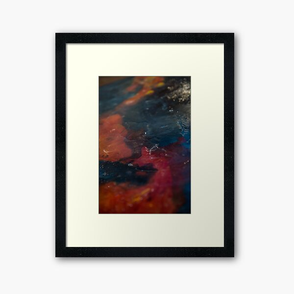 Lava (dark) Framed Art Print