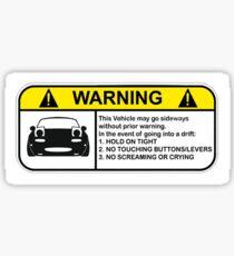 MX-5 Drift Warnung Sticker