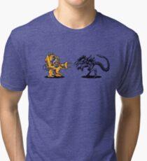 Power Loader Vs Alien Queen  Tri-blend T-Shirt