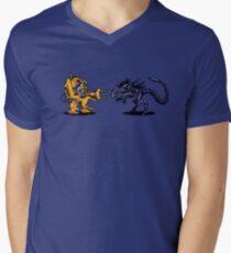 Power Loader Vs Alien Queen  Men's V-Neck T-Shirt