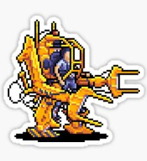Power Loader Pixel Art Sticker