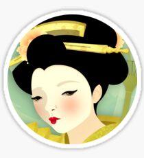Geisha: Olive Sticker