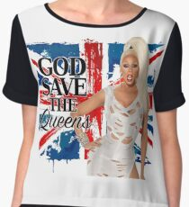 God Save The Queens Women's Chiffon Top