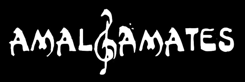 Amalgamates Logo Laptop Sticker - Black by Tufts Amalgamates