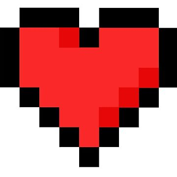 Pixel Red Heart by connor95