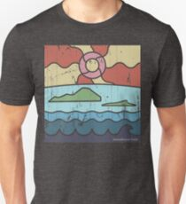 Island Paradise at Sunrise Hawaiian Style Design T-Shirt