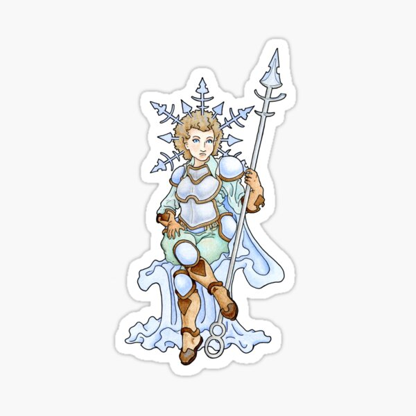 Winter Avatar Lady- ice cold goddess Sticker