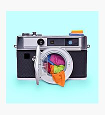 WASHING CAMERA Photographic Print