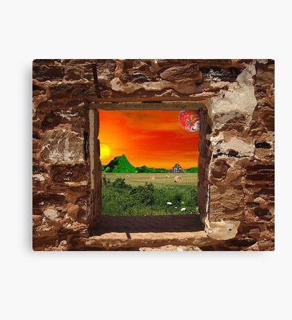 Gecko's Window Canvas Print