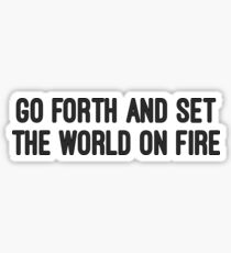 Word On Fire Stickers | Redbubble