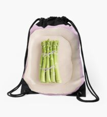 Fresh green asparagus Drawstring Bag