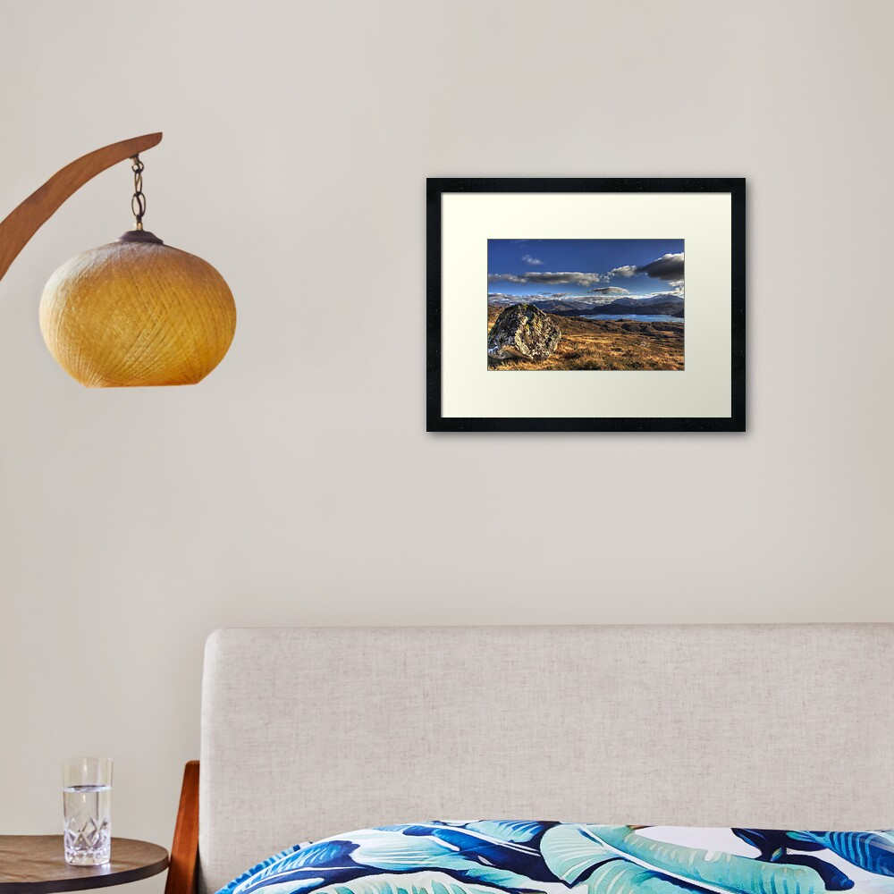 Pap  of Glencoul Framed Art Print
