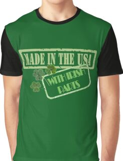 Made in the USA with Irish Parts Graphic T-Shirt