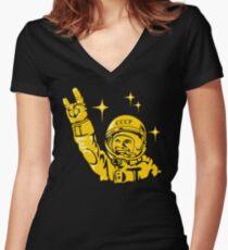 Yuri Gagarin Women's Fitted V-Neck T-Shirt