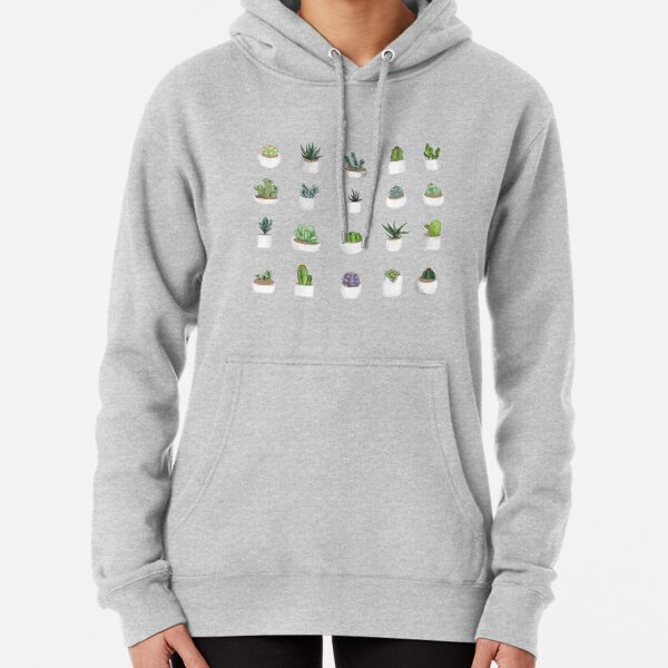 Succulents Pullover Hoodie