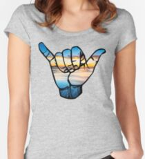 Shaka Waves  Women's Fitted Scoop T-Shirt