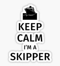 Keep calm I'm a Skipper Sticker