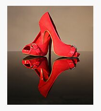 Red Stiletto Shoes Photographic Print