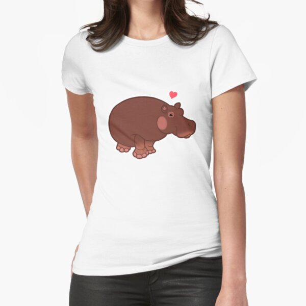 Hippo Love Fitted T-Shirt