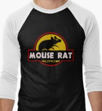 Jurassic Mouse Rat Men's Baseball ¾ T-Shirt