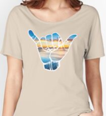 Shaka Waves stickers Women's Relaxed Fit T-Shirt