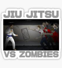 Jiu Jitsu Blue Belt vs Zombies Sticker
