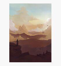 Landschaft im Abendlicht Photographic Print