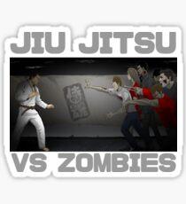 Jiu Jitsu Brown Belt vs Zombies Sticker