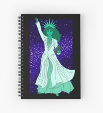 Lady Liberty als Wissenschaftlerin Spiralblock