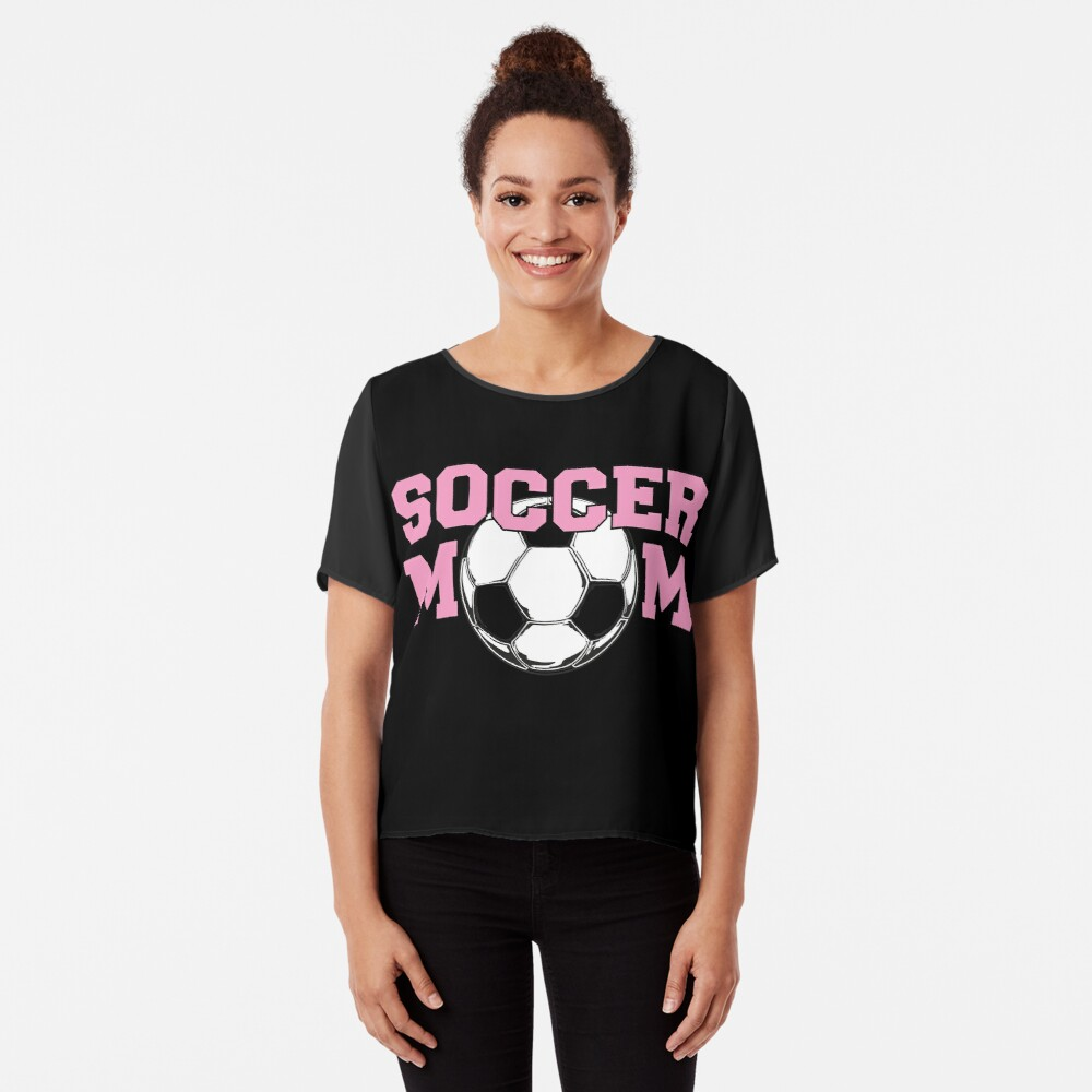 Soccer Mom Pink Women's Chiffon Top Front