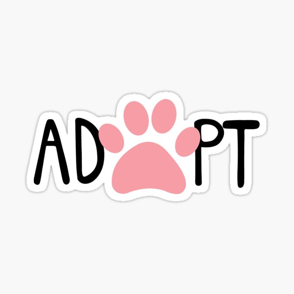 Adopt - Pink Sticker