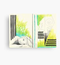 Sketchbook Jak, 14-15 Canvas Print