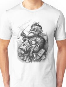 Vintage Illustration Of Santa Claus After Naste T-Shirt