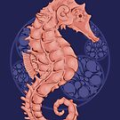 Seahorse and Circles by Rachel Donné