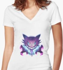 Ghost Women's Fitted V-Neck T-Shirt
