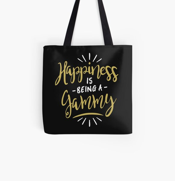 Happy Gammy All Over Print Tote Bag