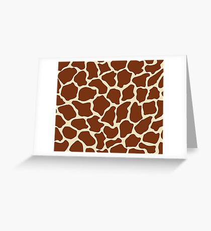 Dutch White in Giraffe Pattern  Greeting Card