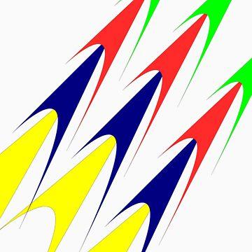 Multi Coloured Rockets by BoywonderUK