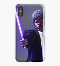 Sam L. Jackson with a lightsaber iPhone Case/Skin