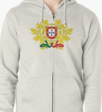 Portugal National Deluxe Game Design Zipped Hoodie