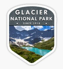 Pegatina Parque Nacional Glacier 2
