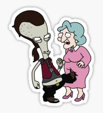 Roger (ricky spanish) kick grandma Sticker