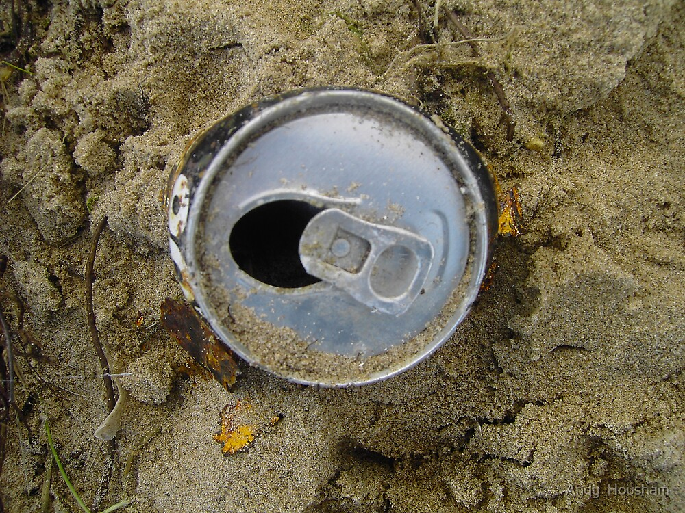 Can on the beach by Andy  Housham